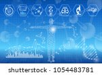 abstract background technology... | Shutterstock .eps vector #1054483781