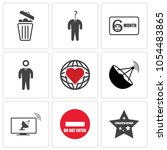 set of 9 simple editable icons... | Shutterstock .eps vector #1054483865