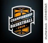 championship basketball  sports ... | Shutterstock .eps vector #1054485065