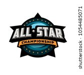 all star sports  template logo... | Shutterstock .eps vector #1054485071
