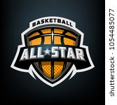 all star basketball  sports... | Shutterstock .eps vector #1054485077