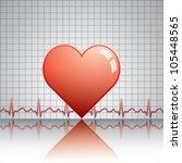 heart with ekg.medical vector | Shutterstock .eps vector #105448565
