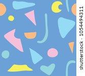 vector seamless pattern pastel... | Shutterstock .eps vector #1054494311