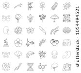 nature icons set. outline style ... | Shutterstock . vector #1054494521