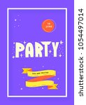 party vertical banner template. ... | Shutterstock .eps vector #1054497014