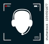 operator in headset. call... | Shutterstock .eps vector #1054501877
