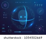 biometrics digital face...   Shutterstock .eps vector #1054502669