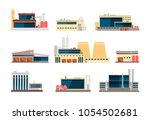 industrial factory  power plant ... | Shutterstock .eps vector #1054502681