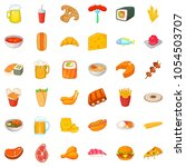 ale icons set. cartoon style of ... | Shutterstock . vector #1054503707