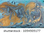 marble abstract acrylic... | Shutterstock . vector #1054505177