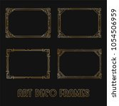 art deco horizontal gold frames ... | Shutterstock .eps vector #1054506959