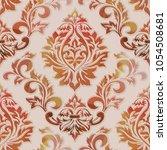 vector volumetric damask... | Shutterstock .eps vector #1054508681