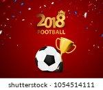 football 2018 design of a... | Shutterstock .eps vector #1054514111