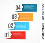 nice vector numbered list... | Shutterstock .eps vector #1054516229