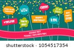 photo booth props set vector... | Shutterstock .eps vector #1054517354