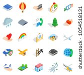 light aviation icons set.... | Shutterstock . vector #1054518131