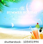 summer background with sea  sun ...   Shutterstock .eps vector #105451994