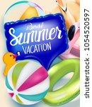 best summer vacation banner... | Shutterstock .eps vector #1054520597