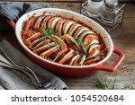ratatouille   traditional... | Shutterstock . vector #1054520684