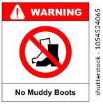 no muddy boots symbol. rain...   Shutterstock .eps vector #1054524065