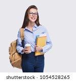 studio portrait of a beautiful... | Shutterstock . vector #1054528265