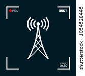 antenna icon symbol | Shutterstock .eps vector #1054528445
