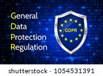 eu general data protection... | Shutterstock .eps vector #1054531391