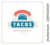 tacos logo vector illustration. ... | Shutterstock .eps vector #1054532534