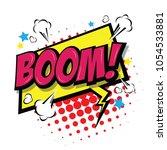 boom    comic speech bubble ... | Shutterstock .eps vector #1054533881