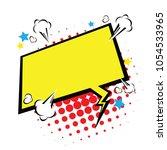 paper speech bubble  vector... | Shutterstock .eps vector #1054533965