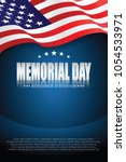 memorial day. remember and... | Shutterstock .eps vector #1054533971