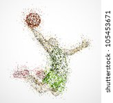 abstract basketball player in... | Shutterstock .eps vector #105453671