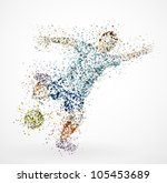 abstract football player  kick... | Shutterstock .eps vector #105453689