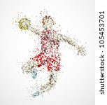 abstract handball player  throw ... | Shutterstock .eps vector #105453701