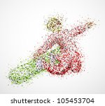 abstract snowboarder in jump.... | Shutterstock .eps vector #105453704