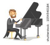 young caucasian white musician... | Shutterstock .eps vector #1054540184