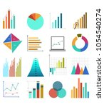 business vector graphs | Shutterstock .eps vector #1054540274
