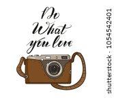 photo camera in cartoon style.... | Shutterstock .eps vector #1054542401