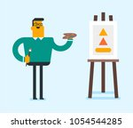young caucasian white man... | Shutterstock .eps vector #1054544285