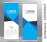 roll up business brochure flyer ... | Shutterstock .eps vector #1054544627