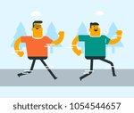 caucasian white smiling men... | Shutterstock .eps vector #1054544657