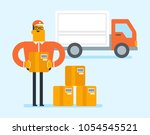 young caucasian white male... | Shutterstock .eps vector #1054545521