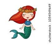 cartoon beautiful little... | Shutterstock .eps vector #1054549649