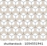 vector seamless geometric... | Shutterstock .eps vector #1054551941