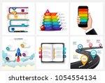 vector road  children pyramid ... | Shutterstock .eps vector #1054554134