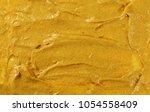 yellow mustard sauce  spread... | Shutterstock . vector #1054558409