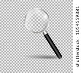 magnifying glass  loupe with... | Shutterstock .eps vector #1054559381