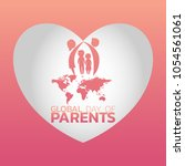 global day of parents logo icon ... | Shutterstock .eps vector #1054561061
