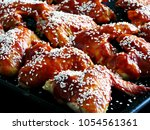 chicken wings in chinese style... | Shutterstock . vector #1054561361