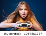 computer game competition.... | Shutterstock . vector #1054561397
